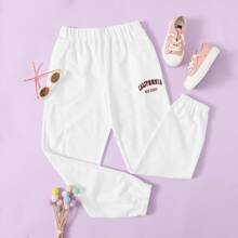 Girls Letter Graphic Sweatpants