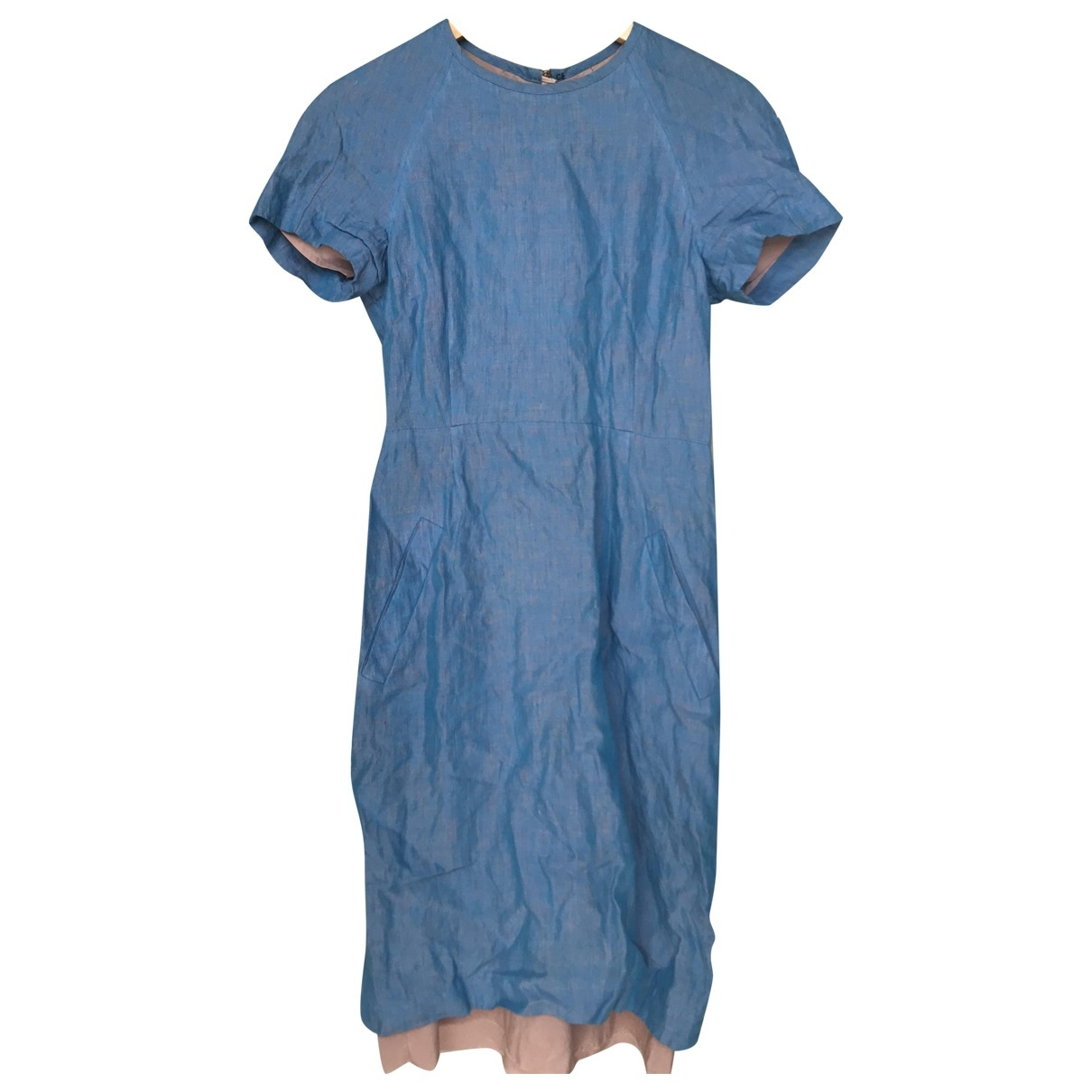 Acne Studios \N Blue Cotton dress for Women 38 FR