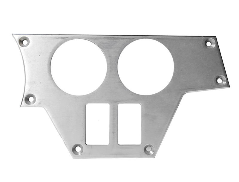 Right Side 2 Gauge/2 Switch Plate for Polaris RZR Raw PRP Seats ODL-217070