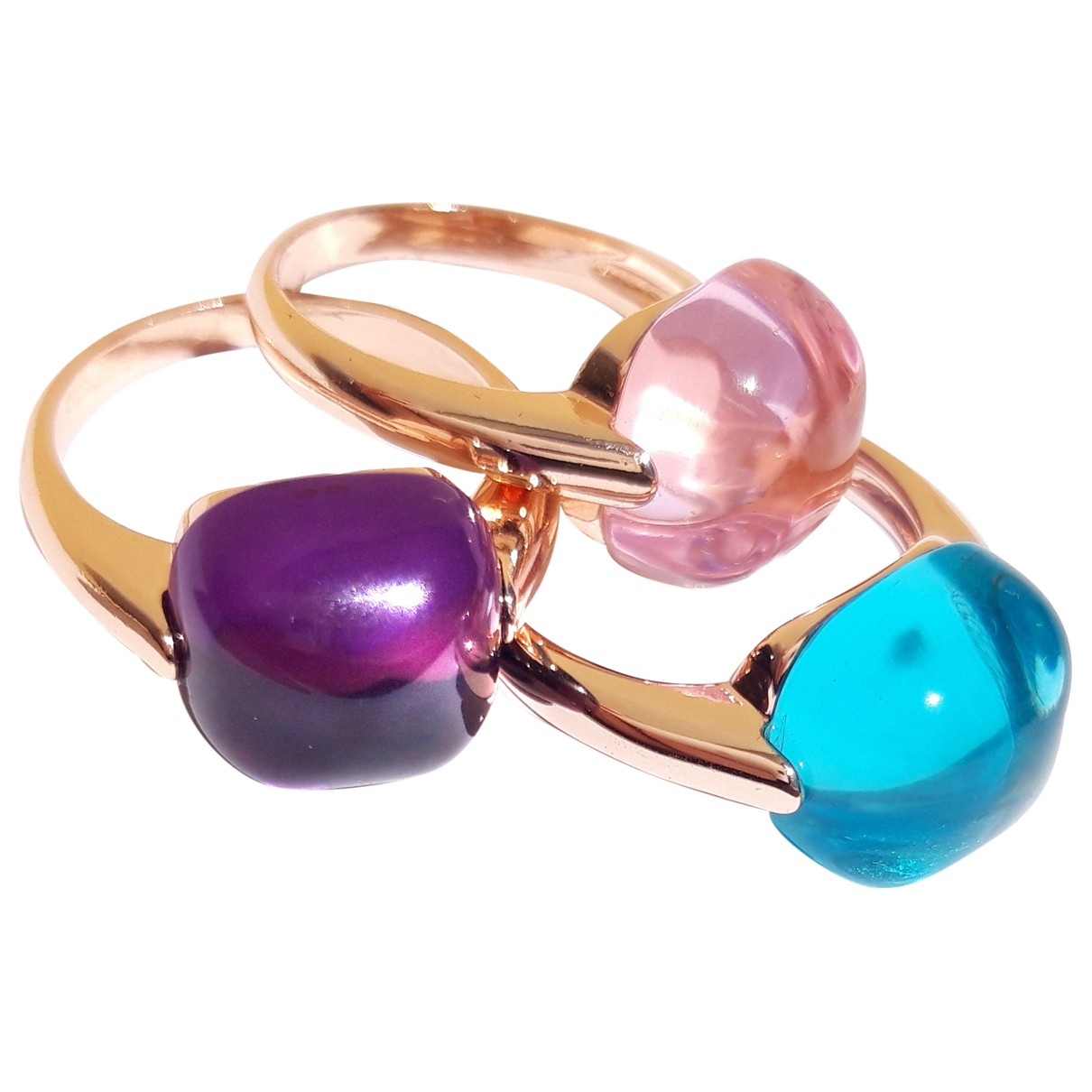 Non Signé / Unsigned \N Multicolour Gold plated ring for Women 54 MM