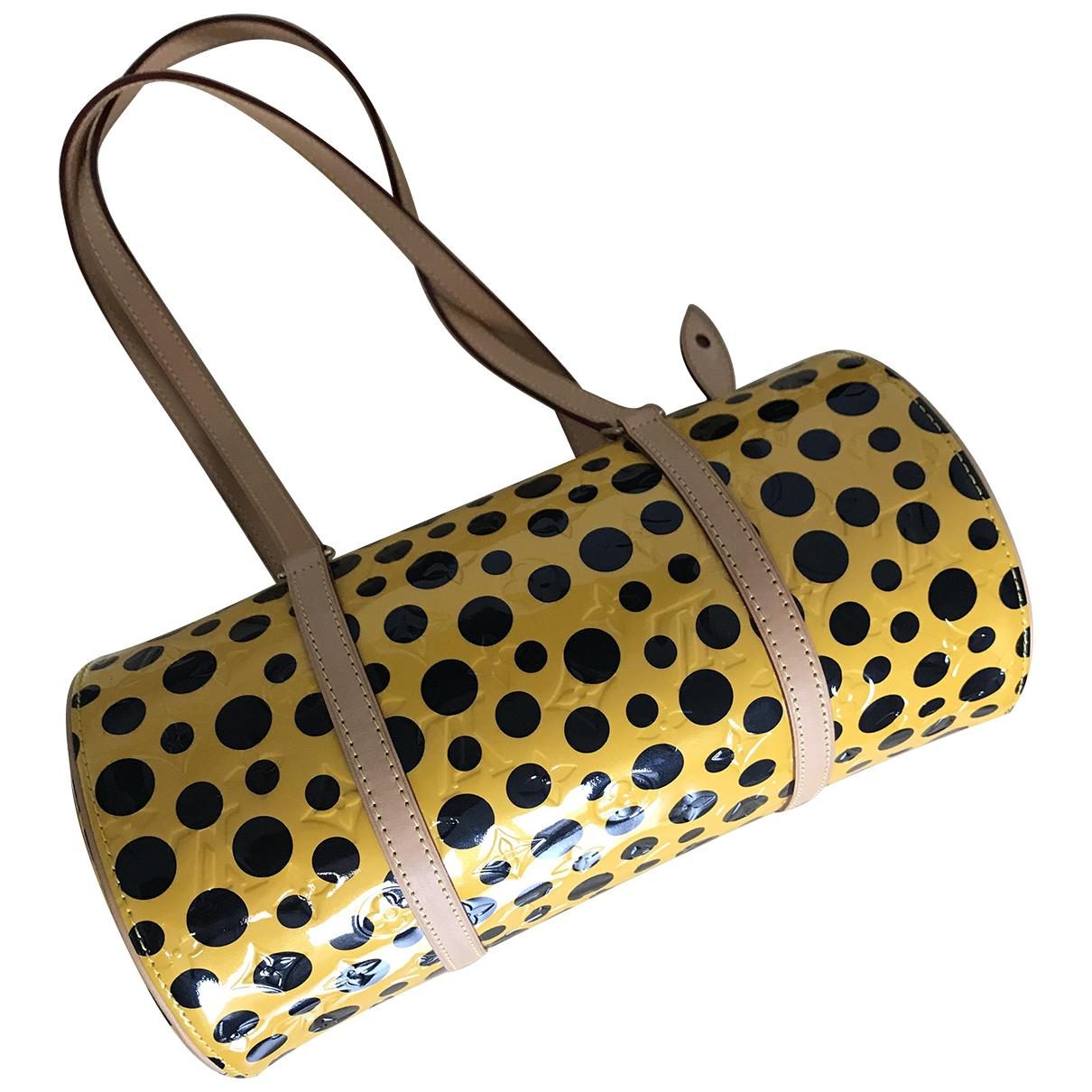 Louis Vuitton Papillon Handtasche in  Gelb Leder