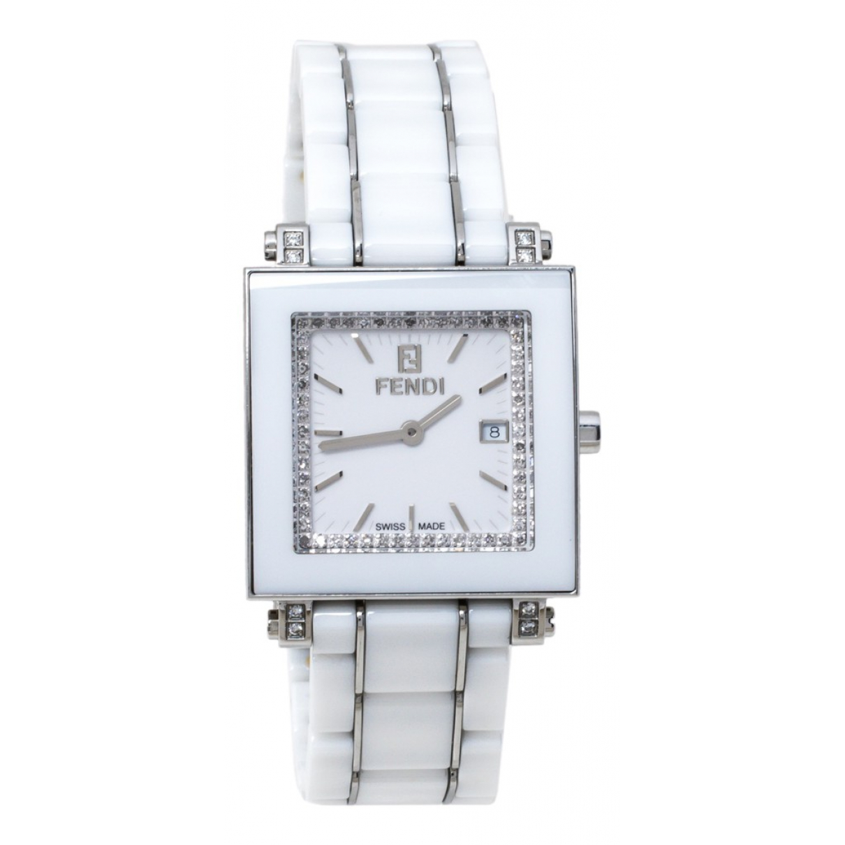 Fendi N White Steel watch for Women N