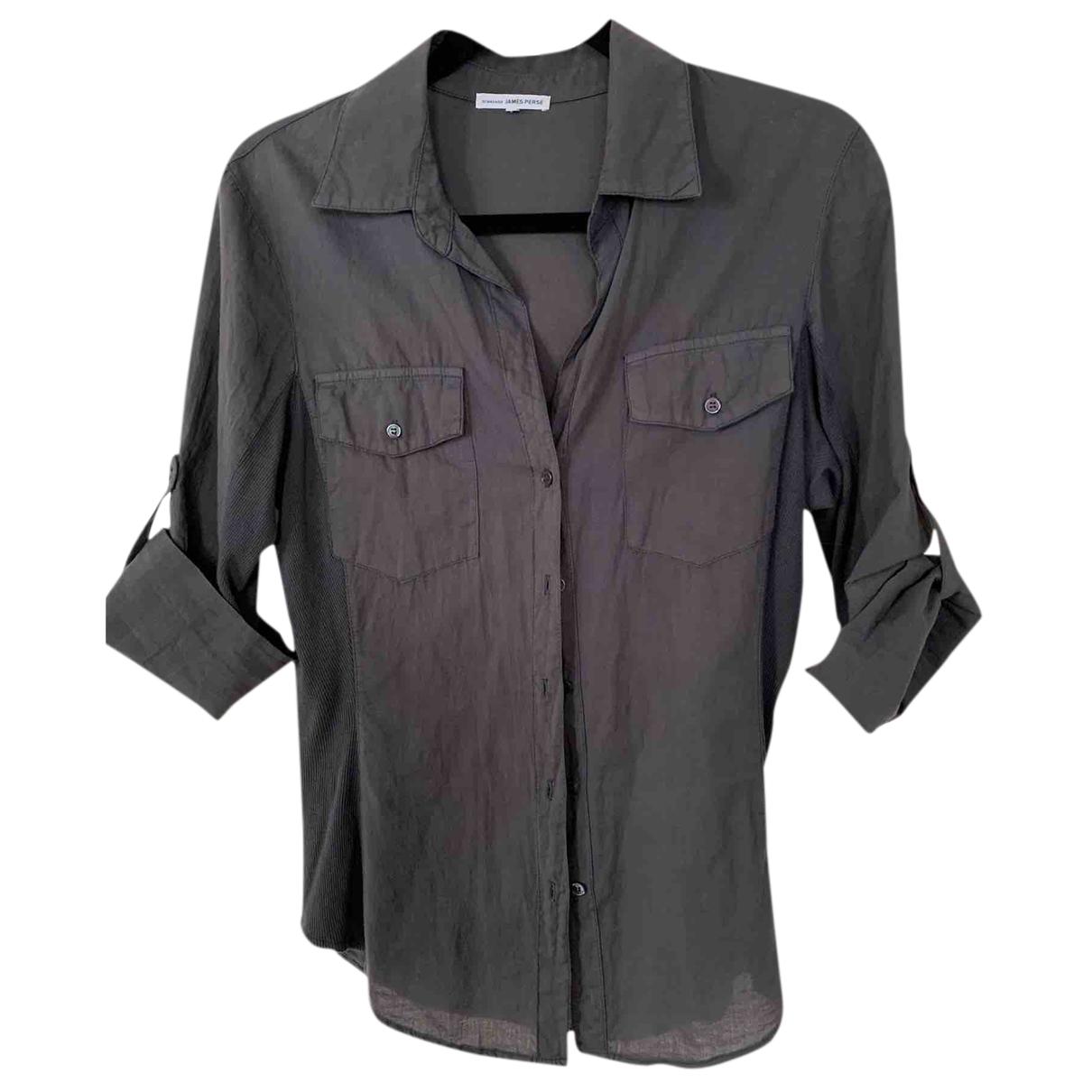James Perse - Top   pour femme en coton - gris