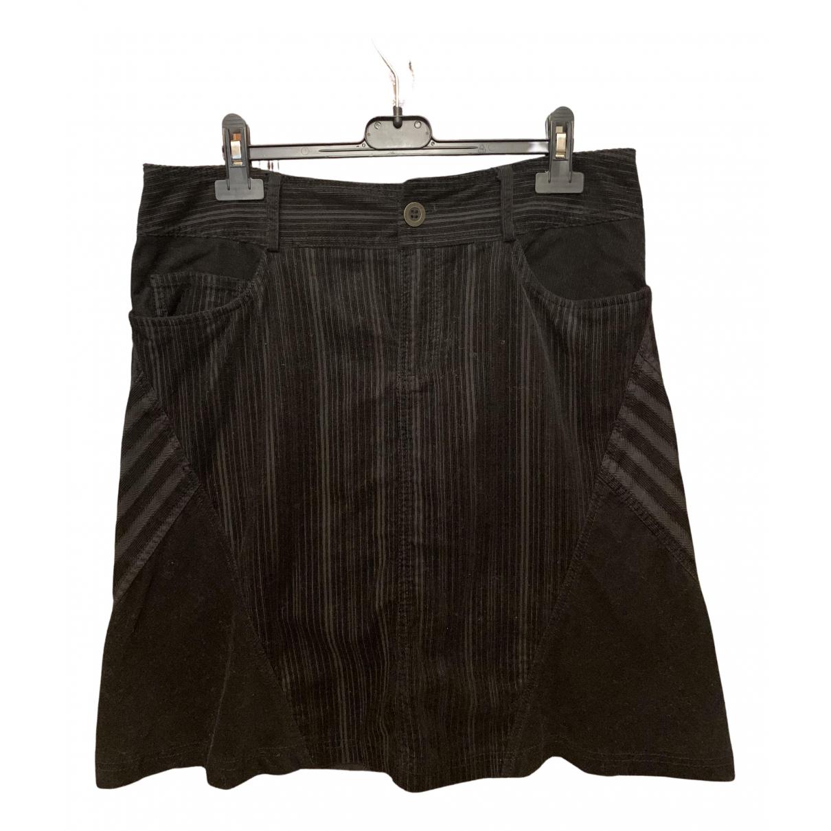 Low Brand - Jupe   pour femme en velours - noir