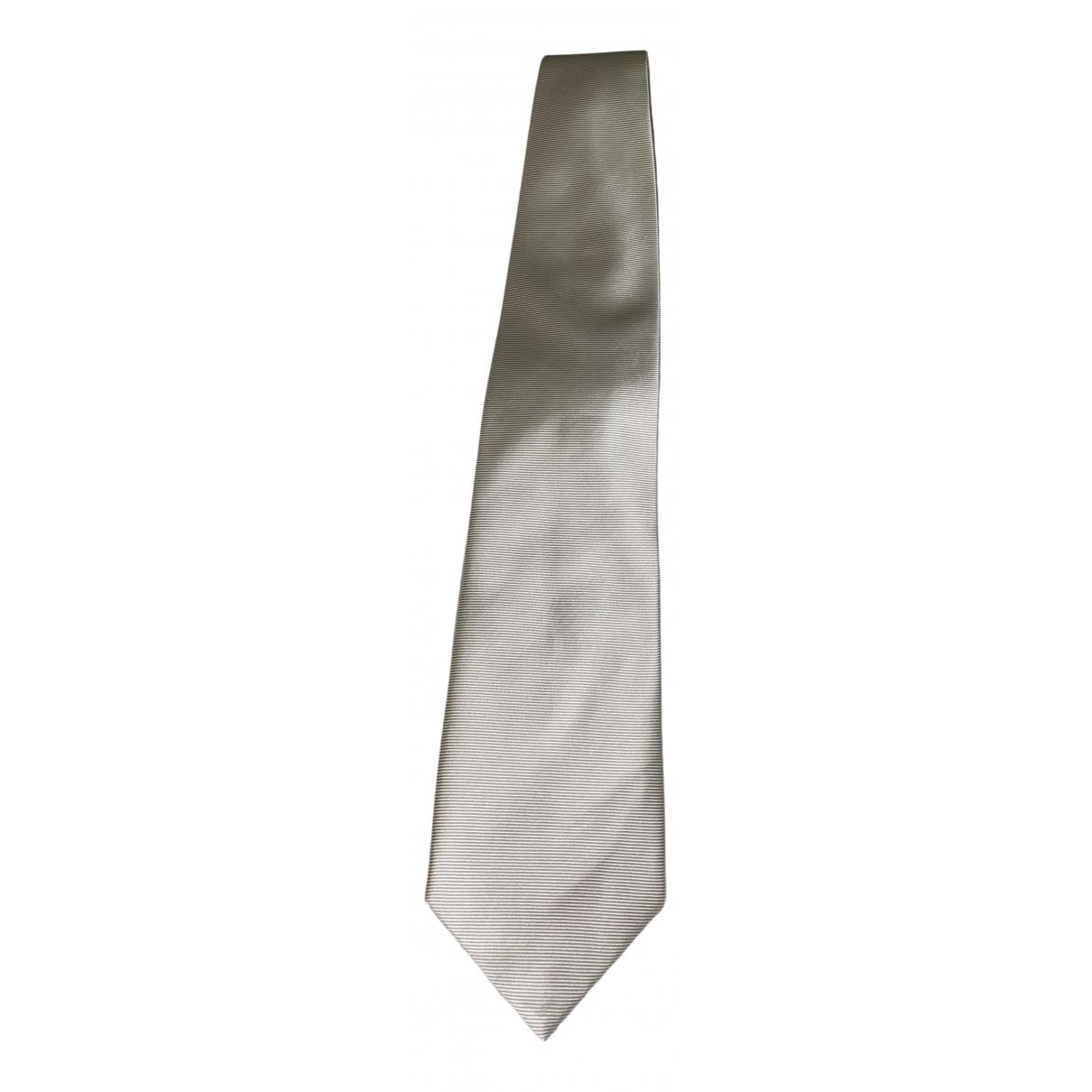 Non Signe / Unsigned \N Krawatten in  Weiss Seide