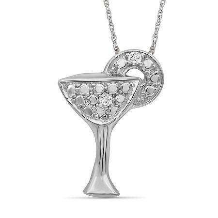 Womens Diamond Accent Genuine White Diamond Sterling Silver Pendant Necklace, One Size , No Color Family