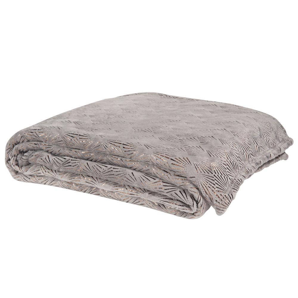 Weicher Decke grau 150x230