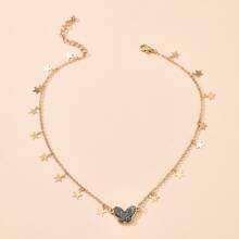 Star Tassel Charm Necklace