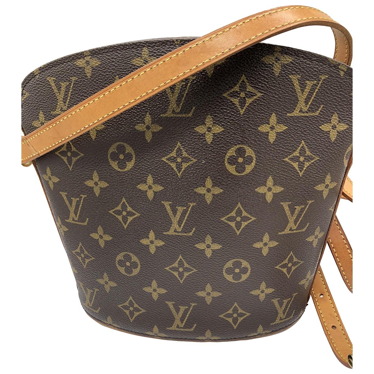 Louis Vuitton Drouot  Handtasche in  Braun Leinen