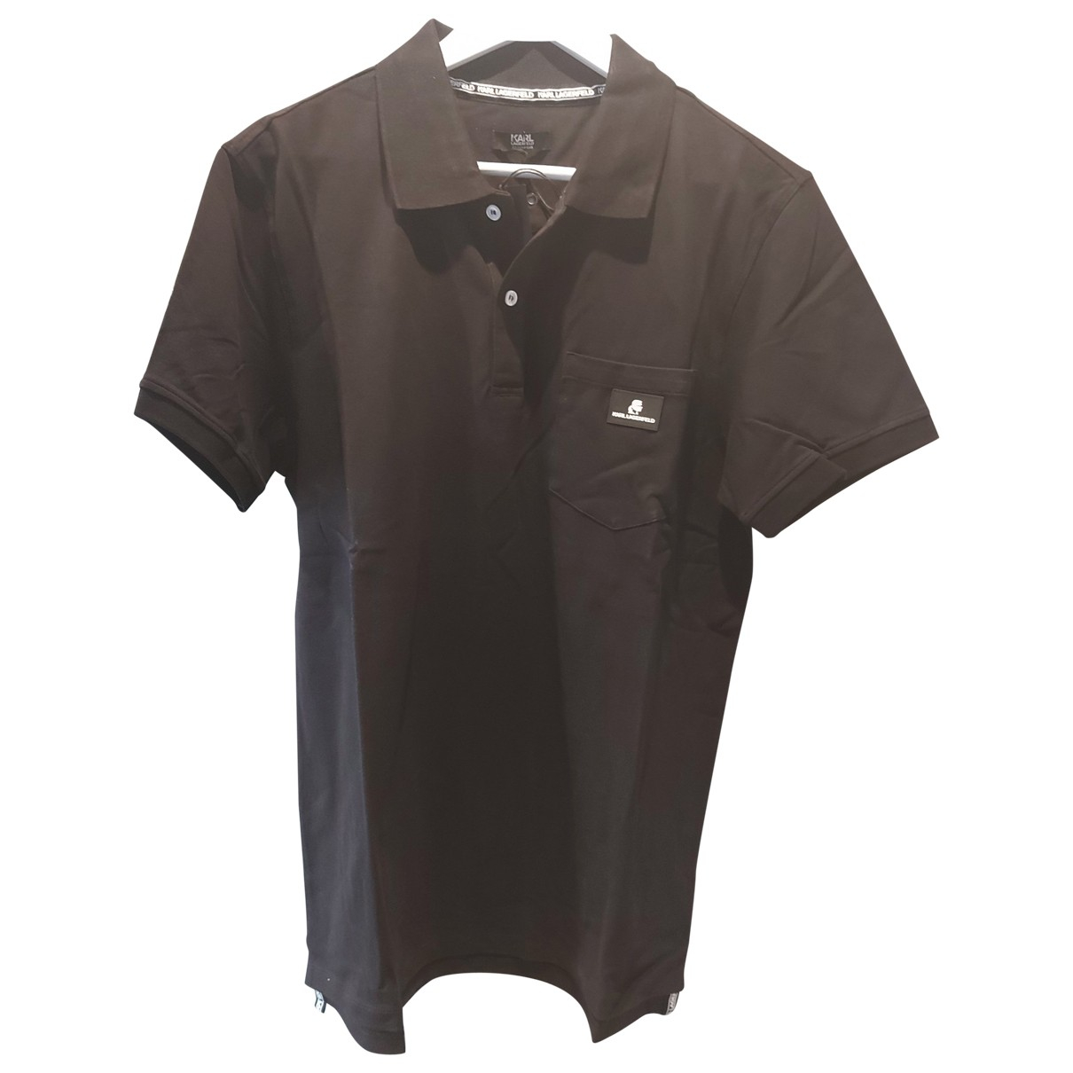 Karl Lagerfeld - Polos   pour homme en coton - noir