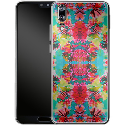 Huawei P20 Silikon Handyhuelle - Tropical Floral von Amy Sia