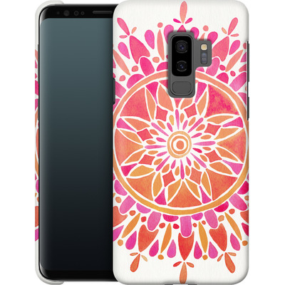 Samsung Galaxy S9 Plus Smartphone Huelle - Mandala Pink Ombre von Cat Coquillette