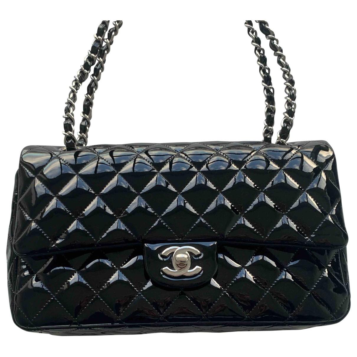 Chanel Timeless/Classique Black Patent leather handbag for Women \N