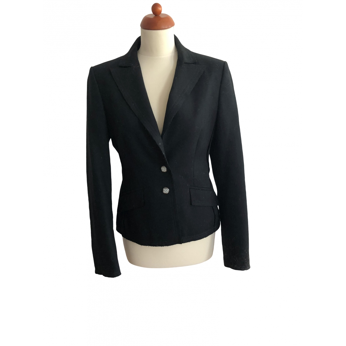 Non Signé / Unsigned \N Black Wool jacket for Women 40 IT