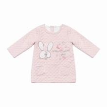 Toddler Girls Cartoon Embroidery Fleece Lined Dress