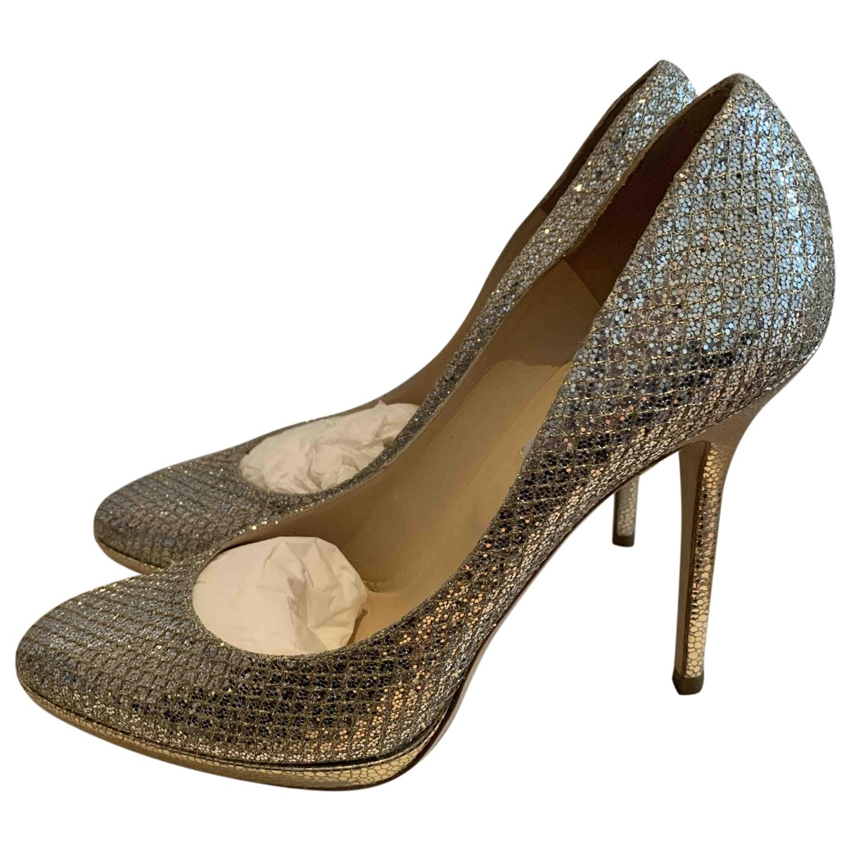 Jimmy Choo Esme Metallic Glitter Heels for Women 41 EU