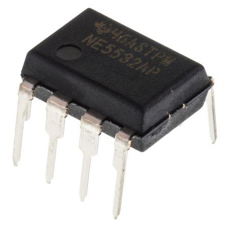 Texas Instruments NE5532AP , Op Amp, 10MHz, 8-Pin PDIP