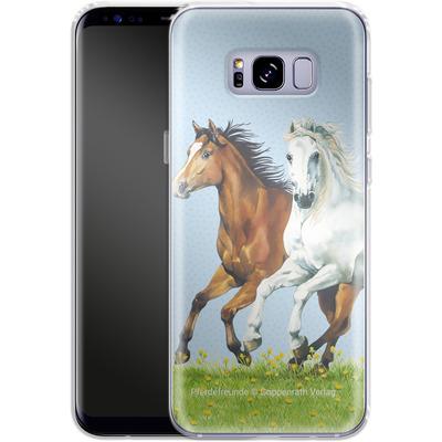 Samsung Galaxy S8 Plus Silikon Handyhuelle - Pferdefreunde Ausritt von Pferdefreunde
