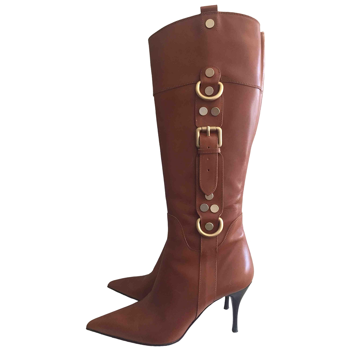 Cesare Paciotti \N Camel Leather Boots for Women 37.5 IT