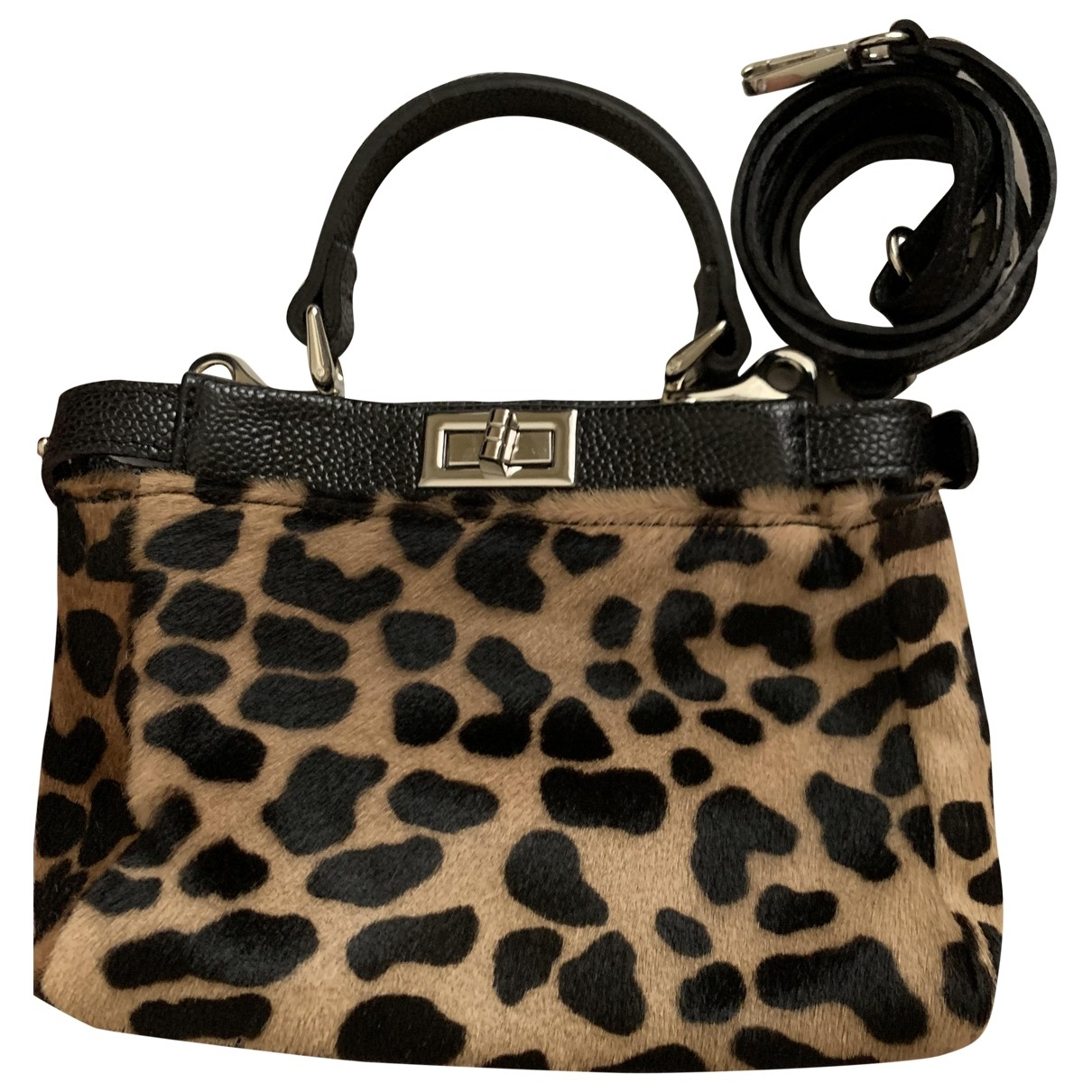 Non Signé / Unsigned \N Black Pony-style calfskin Clutch bag for Women \N