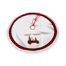 Falda de arbol de navidad con estampado de slogan