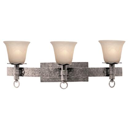 Americana 4203PS/1318 3-Light Bath in Pearl Silver with Antique Linen Standard Glass