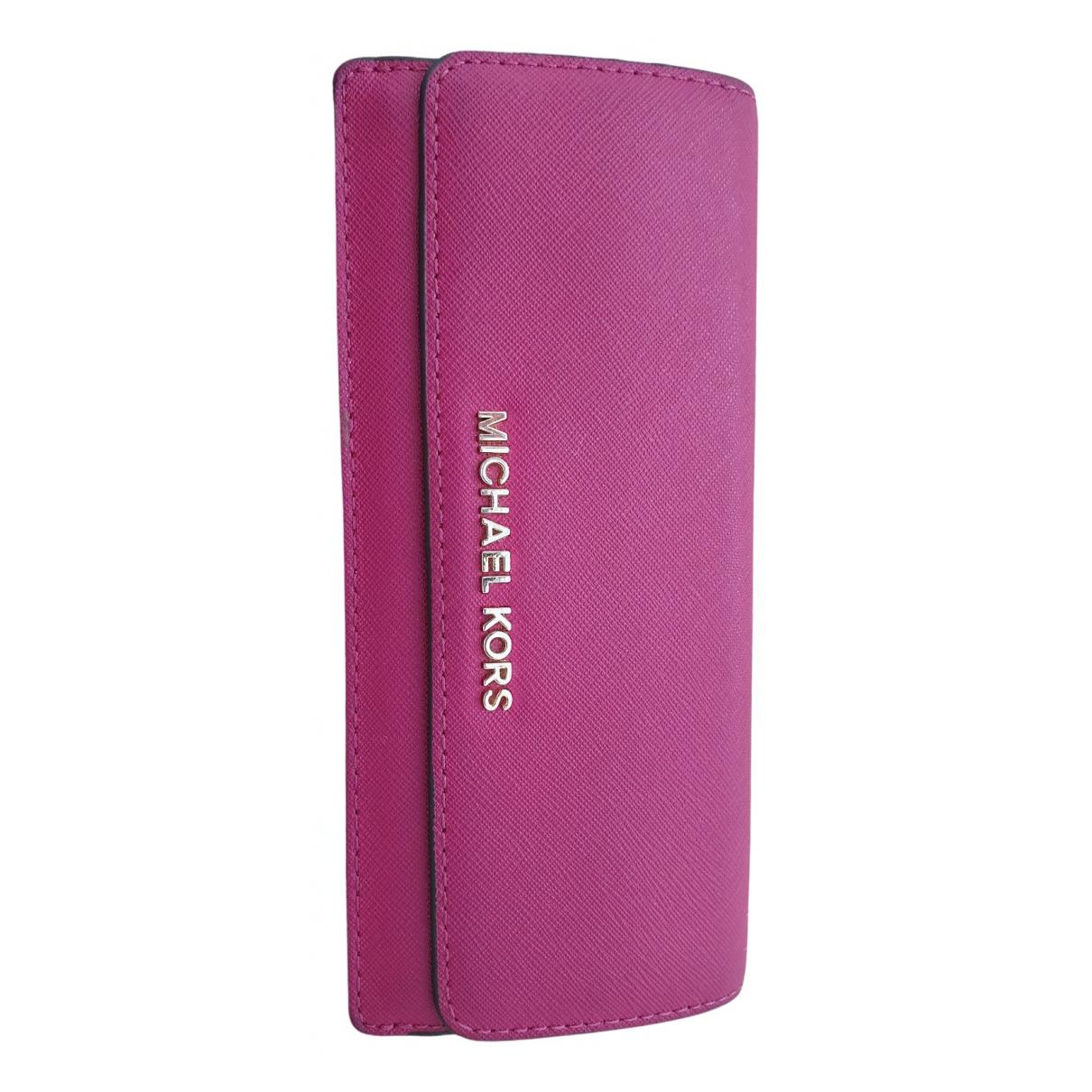 Michael Kors - Portefeuille   pour femme en cuir - rose