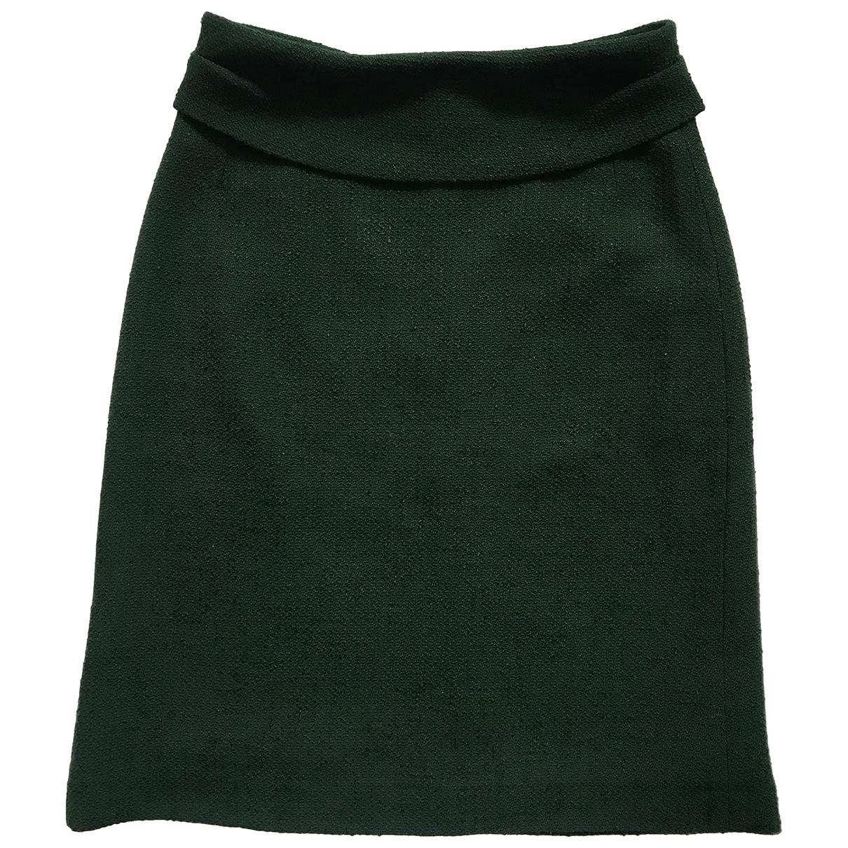 Dries Van Noten - Jupe   pour femme en laine - vert