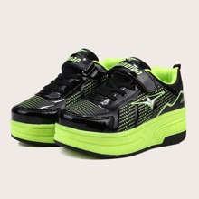 Boys Velcro Strap Runaway Sneakers With Wheel