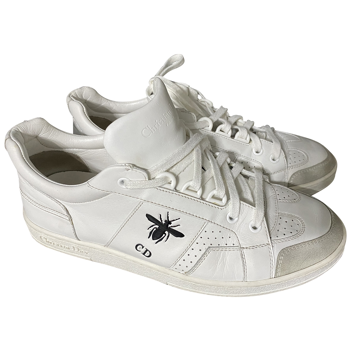 Dior \N White Leather Trainers for Women 37 EU