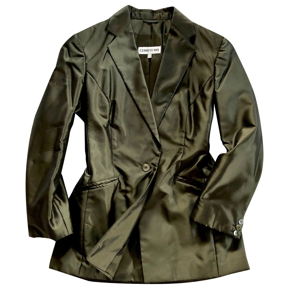 Cerruti \N Green Silk jacket for Women M International