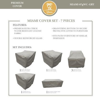 Miami MIAMI-07gWC-GRY MIAMI-07g Protective Cover Set in