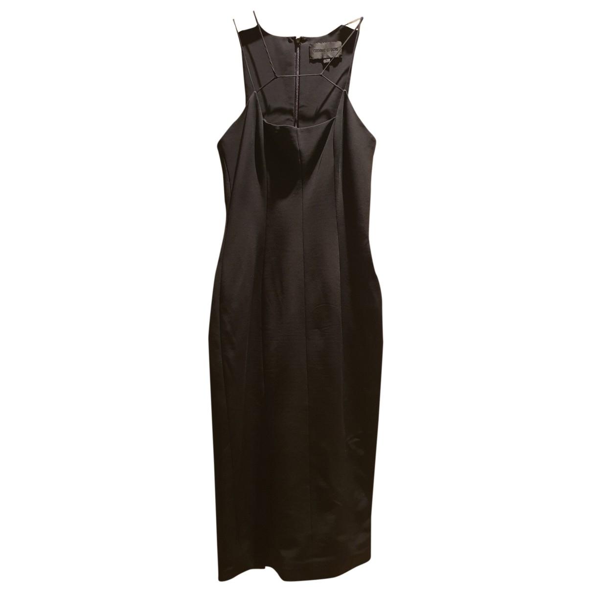 Cushnie Et Ochs \N Kleid in  Schwarz Viskose