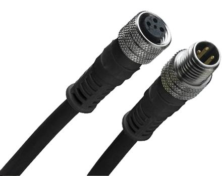 Brad , 120087 Series, Straight M8 to Straight M8 Cable assembly, 3 Core 1m Cable