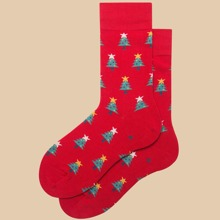 Christmas Tree Pattern Socks