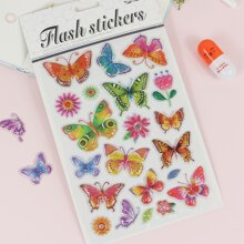 1sheet 3D Butterfly Sticker