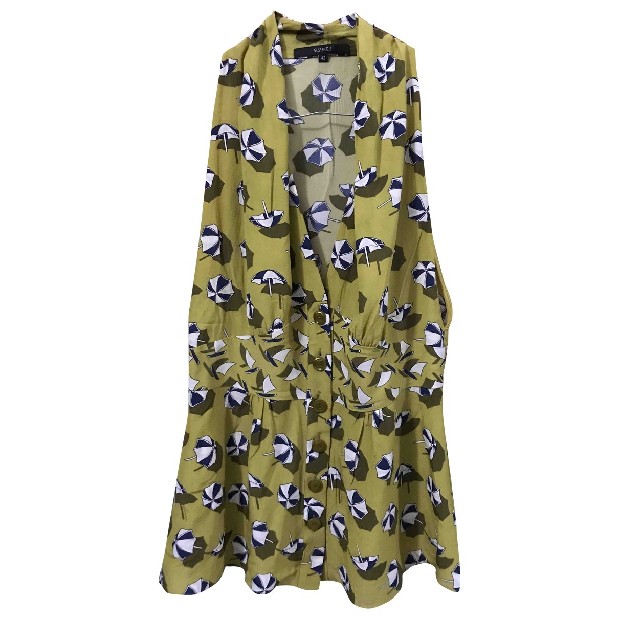 Gucci \N Green Silk  top for Women 42 IT