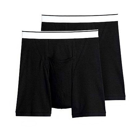Jockey 2 Pair Pouch Boxer Brief - Big, 4x-large , Black