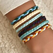 6pcs Colorful Braided Bracelet