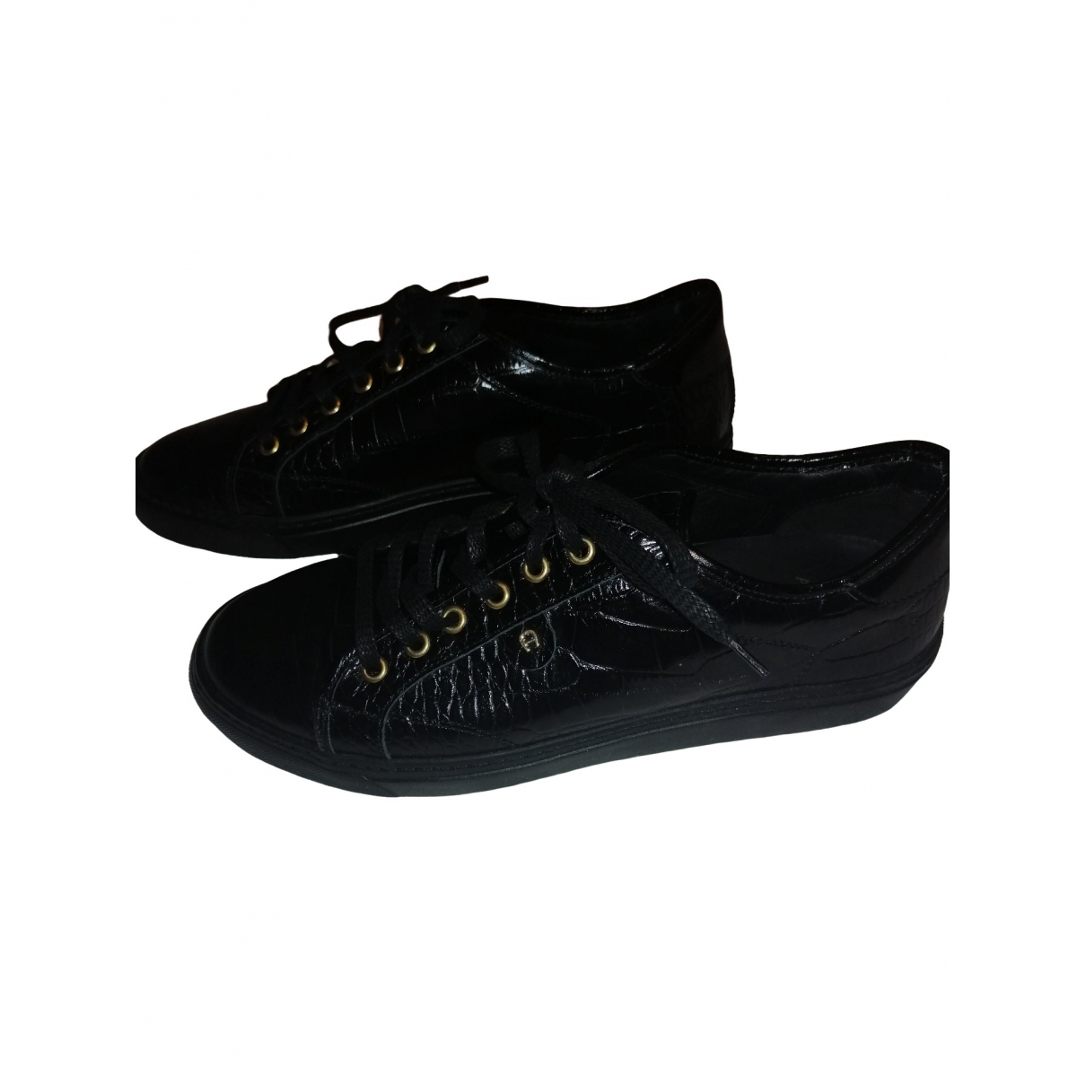 Aigner \N Black Patent leather Trainers for Women 40 EU