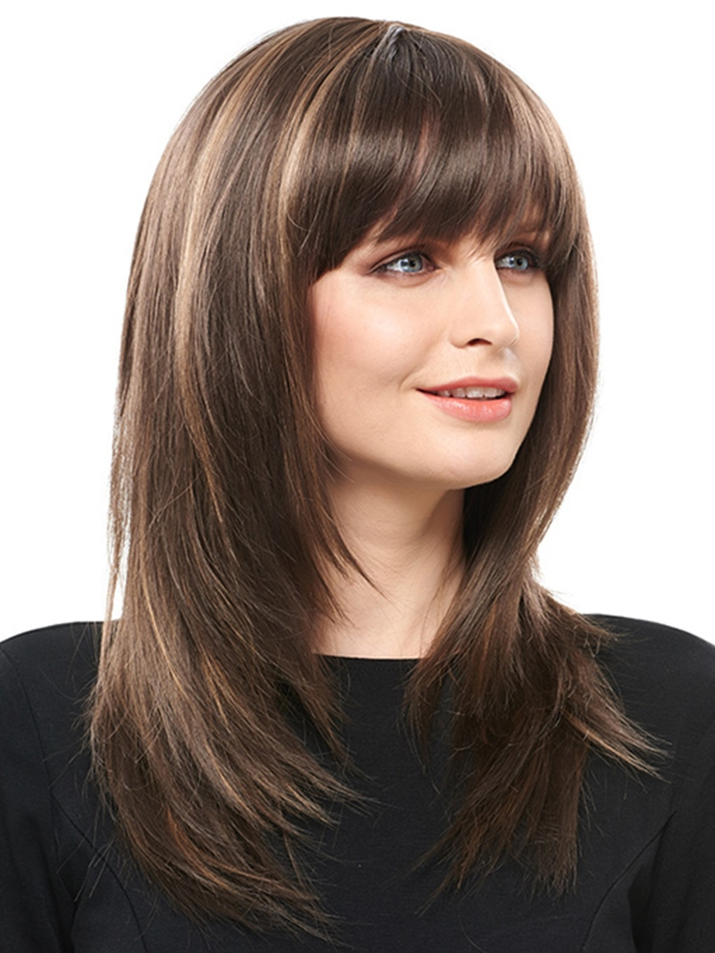 Ericdress Charming Long Layered Straight Synthetic Hair Capless 18 Inches Wig