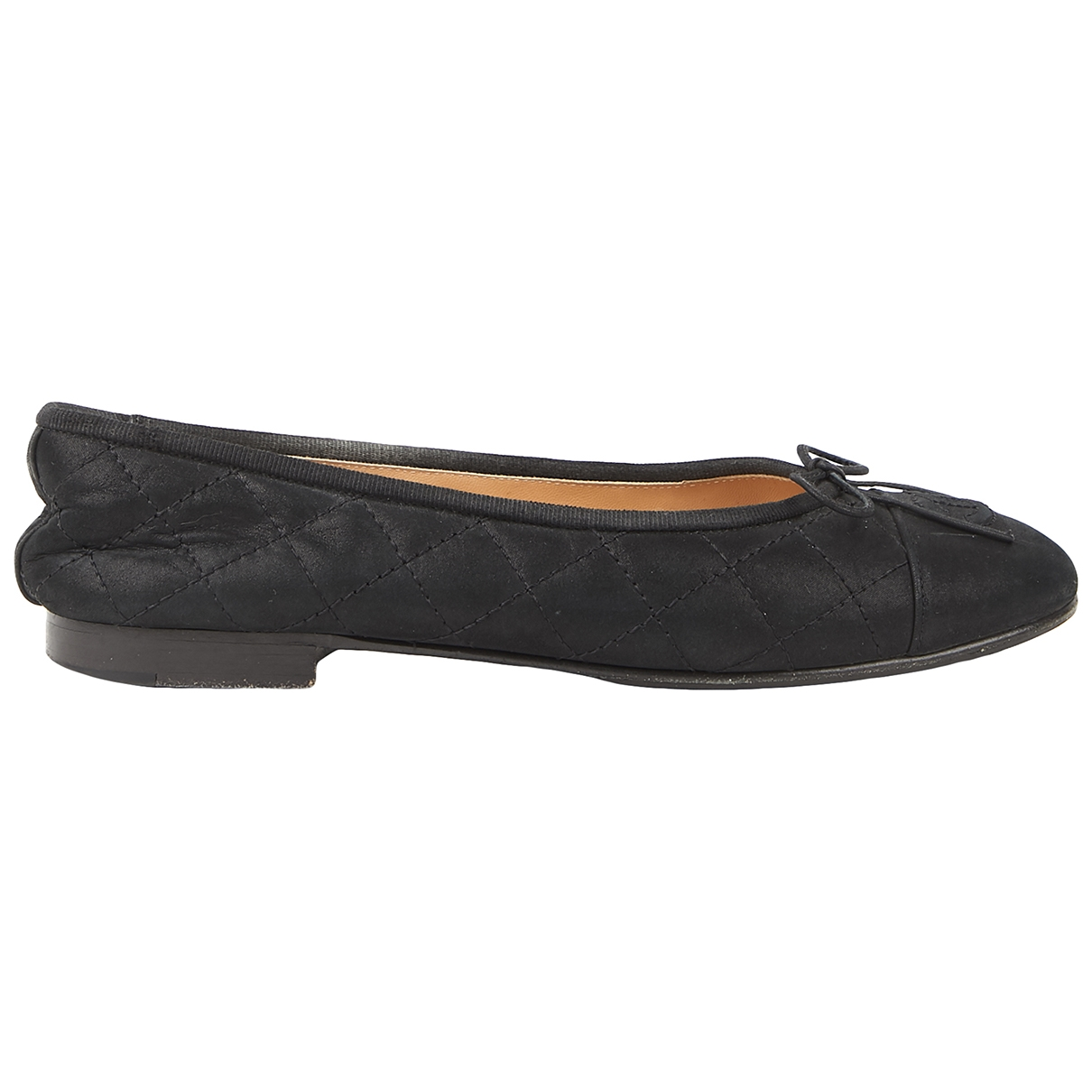 Chanel \N Black Cloth Ballet flats for Women 38.5 EU