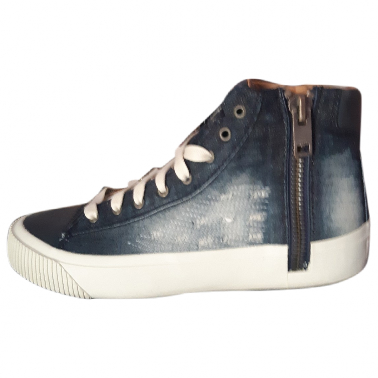 Diesel \N Blue Cloth Trainers for Men 42 EU