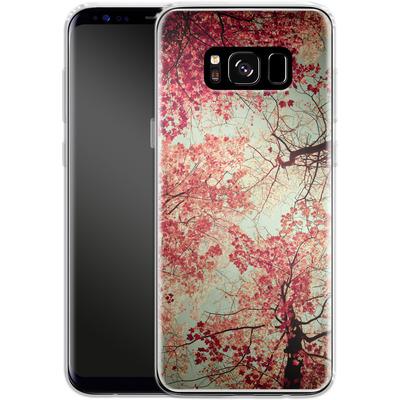 Samsung Galaxy S8 Silikon Handyhuelle - Autumn Inkblot von Joy StClaire
