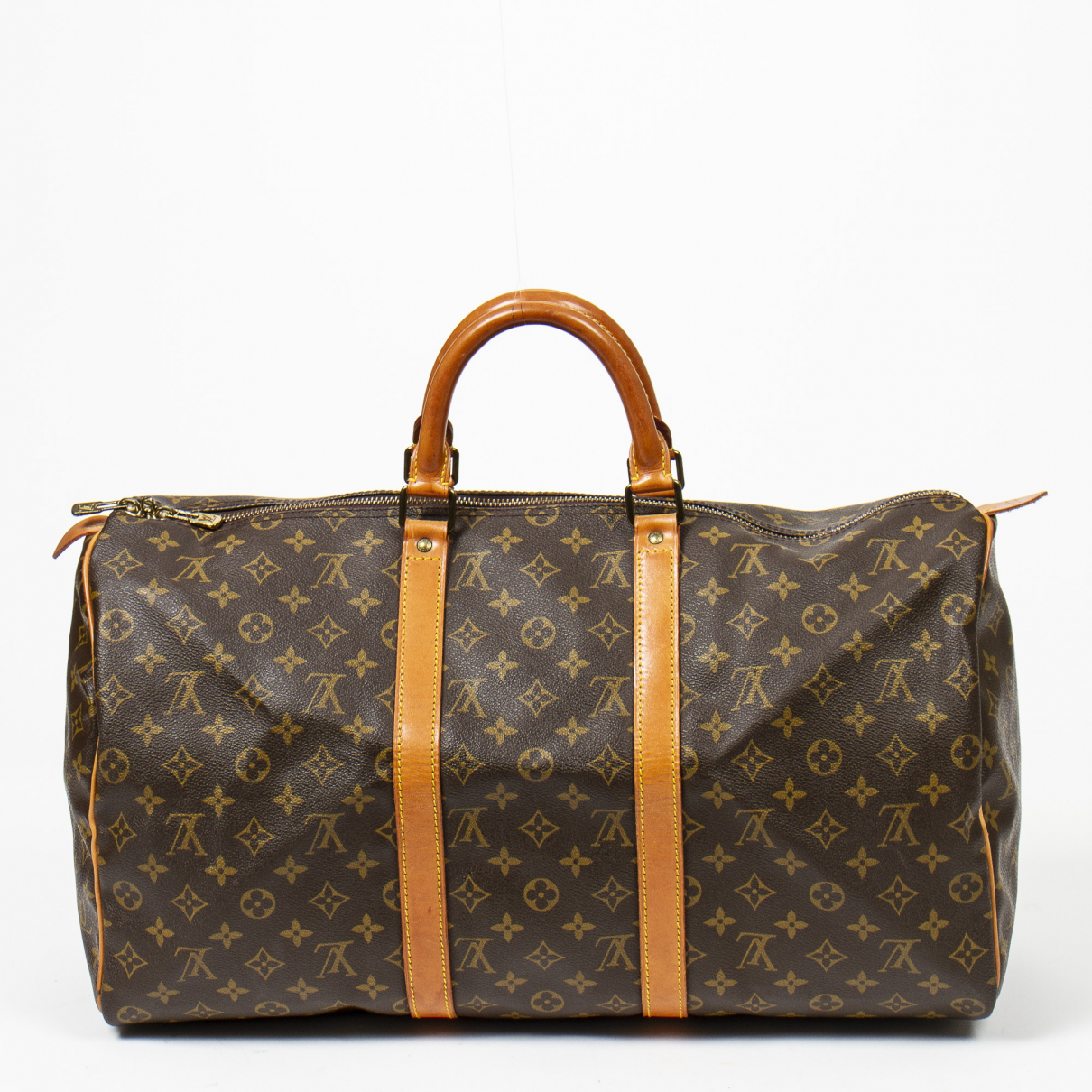 Louis Vuitton - Sac de voyage Keepall pour femme en coton - marron