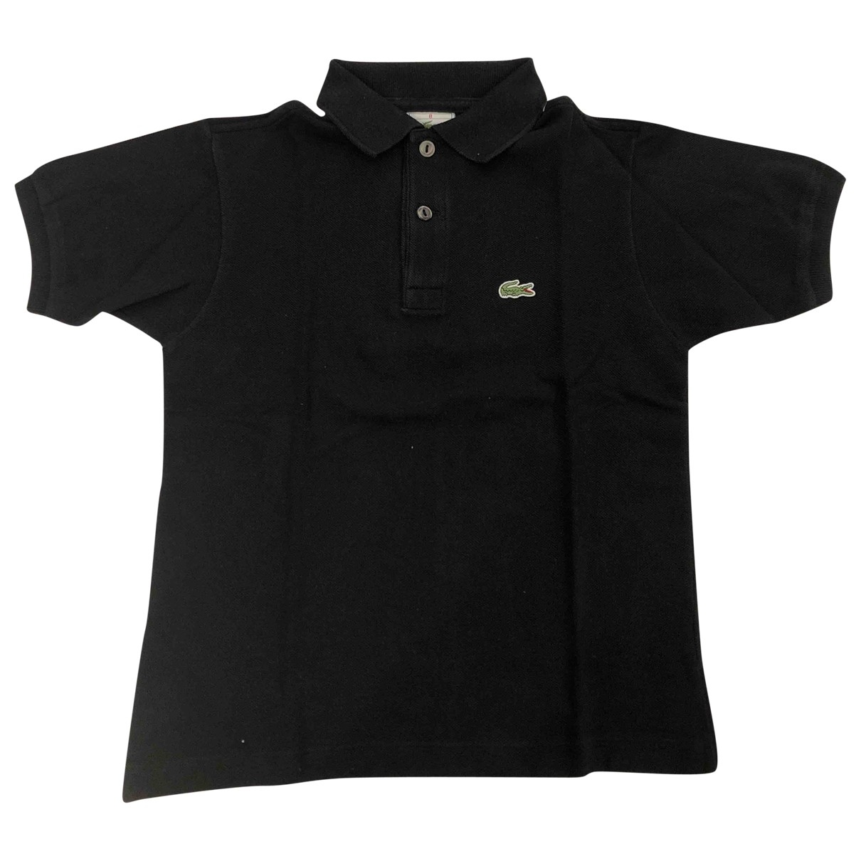 Lacoste - Top   pour enfant en coton - noir