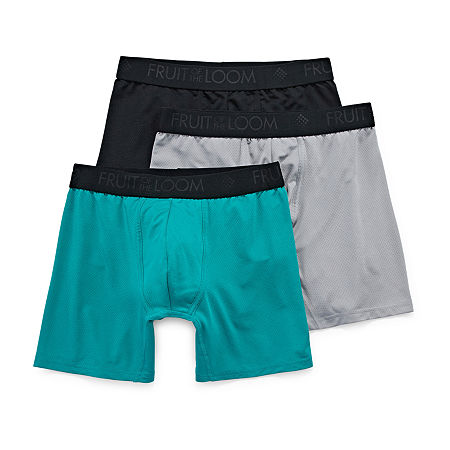 Fruit of the Loom Breathable 3-pc. Boxer Briefs, Large , Black