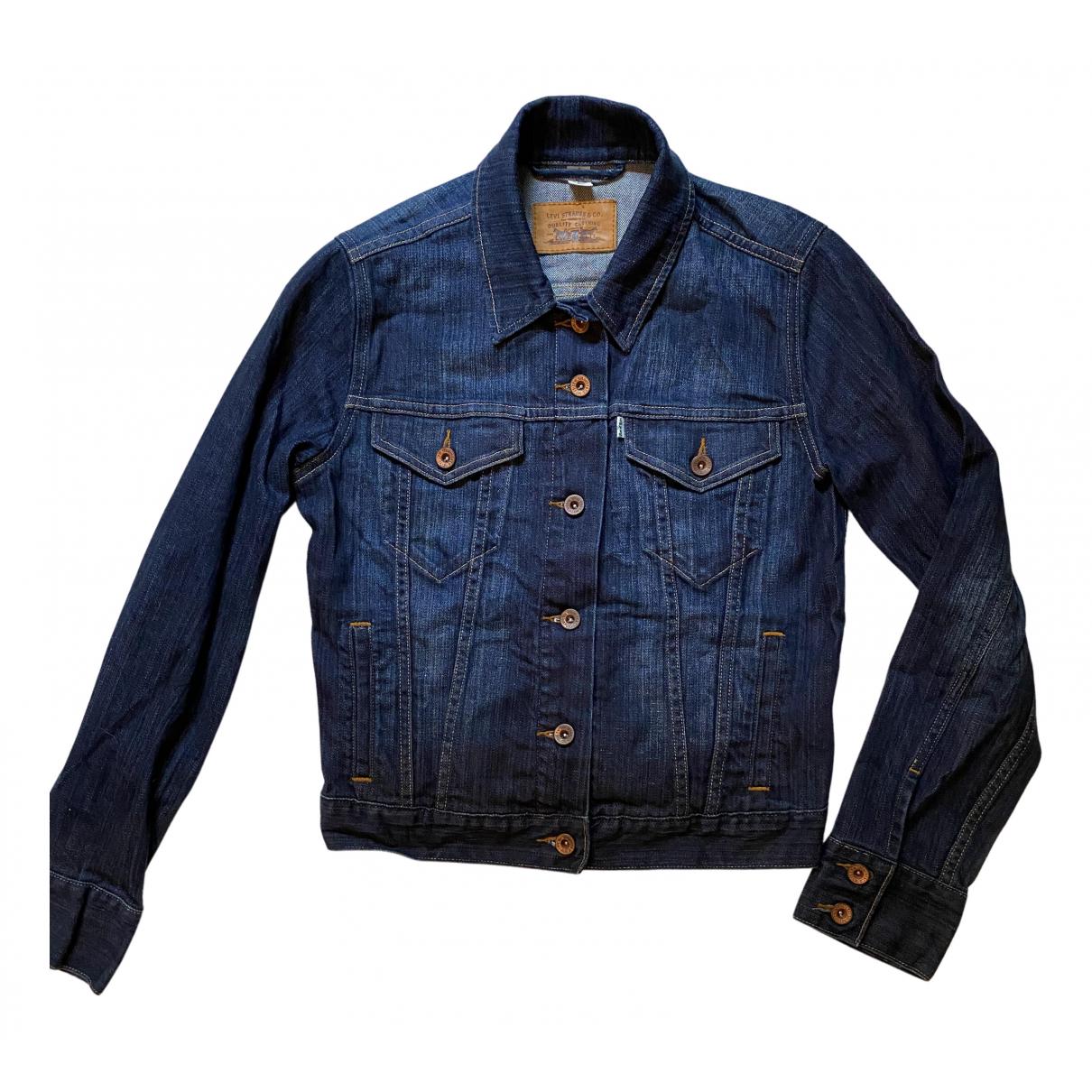 Levis - Veste   pour femme en coton - bleu