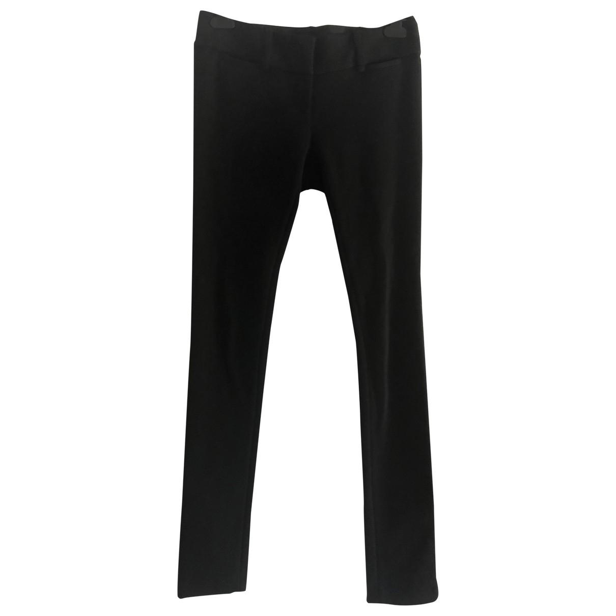 Diane Von Furstenberg \N Black Wool Trousers for Women 4 US