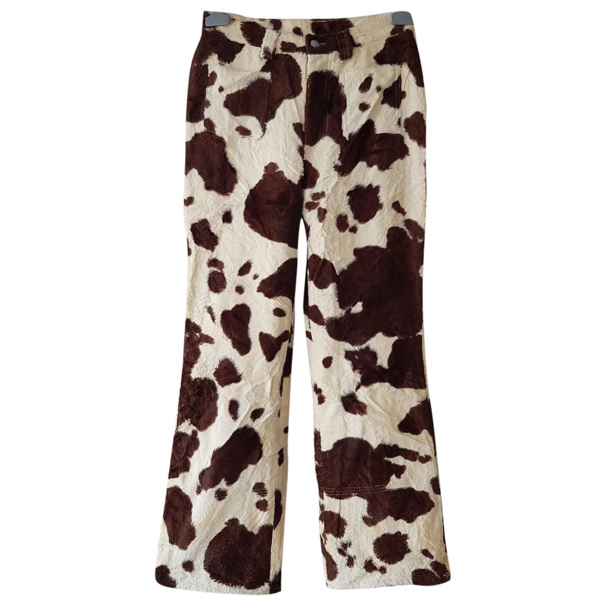 Bogner \N Brown Wool Trousers for Women 6 US